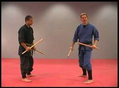 Double Stick Training Drill in the Martial Arts by Sensei Rick Tew and NinjaGym.com - YouTube