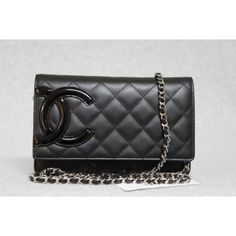 Portero Chanel Cambon Wallet on a chain... Hot pink interior... $2398.00