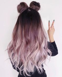 Ombre Hair Color Ideas that you'll absolutely love - hair - HAIR Ombre Hair Color, Cool Hair Color, Purple Ombre, Ombre Rose, Dyed Hair Ombre, Unique Hair Color, Purple Rose, Hair Colour Ideas, Balayage Hair Rose