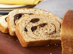 Whole-Wheat Cinnamon-Raisin Bread recipe from Ellie Krieger via Food Network