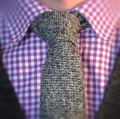 Donegal tweed tie