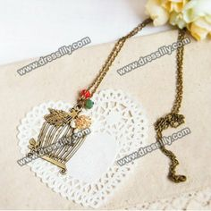 Sweet Retro Style Bird Nest Shape Embellished Women's Sweater Chain Necklace, AS THE PICTURE in Necklaces | DressLily.com
