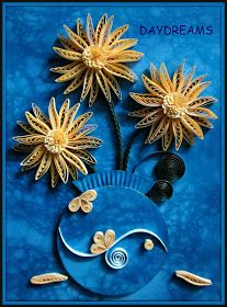 I wanted a quilling comb for a long time ,to help me make perfect wheat ears and to make this flower . The colour I choose was the ...