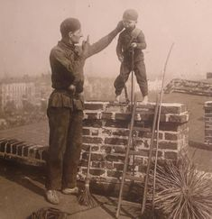 "Caption: ""These children were subjected to horrible conditions as young chimney sweeps."" [...]"