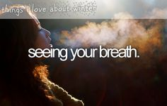 things i love about winter - seeing your breath. I usually don't pin things like this but I LOOOVE this:)