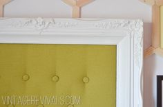 How to Make an Upholstered Headboard Tutorial @ Vintagerevivals.com