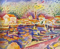 Georges Braque (1882 - 1963) | Fauvism | The Estaque - 1906