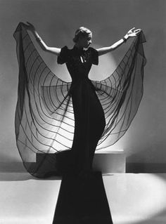 """Spider Dress: Helen Bennett, Fashion Advertising for Bergdorf Goodman, VOGUE Paris, New York, 1939"" © Horst P. Horst / Staley-Wise Gallery New York"
