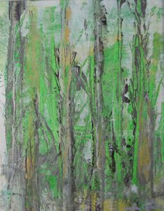 Original Abstract Painting on Paper in Mat Forrest by lindadonohue