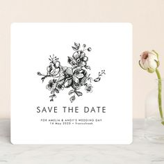 """""""Elegance Illustrated"""" - Save The Date Cards in Ice by Phrosne Ras. Illustrated Wedding Invitations, Save The Date Invitations, Save The Date Cards, Bridal Shower Invitations, Wedding Stationery, Invitation Cards, Unique Save The Dates, Save The Date Designs, Thank You Postcards"""