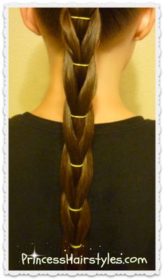reverse pull through braid ponytail
