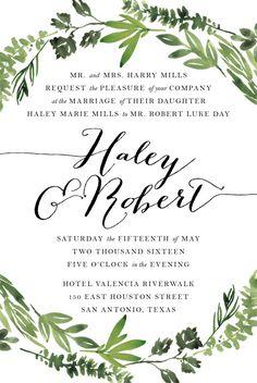 Printable Wedding Invitation Suite Botanical por SagePapeterie
