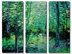 'Timberland' by Aja-Ann Soura 3 Piece Painting Print Plaque Set