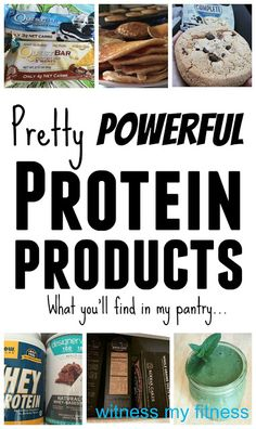 Witness My Fitness: Pretty Powerful Protein Products
