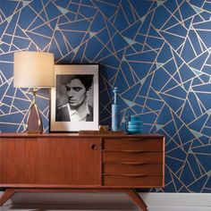 Prismatic Wallpaper from Risky Business 2 by York Wallcoverings. Sure Strip. Easy up and