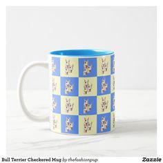 Bull Terrier Checkered Mug