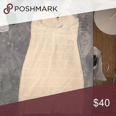 Nude bandage dress from Bebe Bebe nude bandage dress size large bebe Dresses Mini