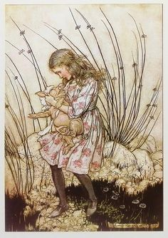 Vintage Arthur Rackham Alice In Wonderland Alice by earlybirdsale