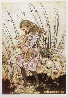 Vintage Arthur Rackham Alice In Wonderland Alice by earlybirdsale
