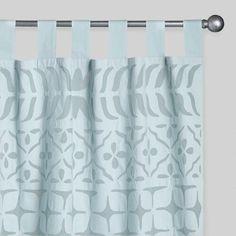 One of my favorite discoveries at WorldMarket.com: Aqua Petal Cutwork Sheer Cotton Curtains Set of 2