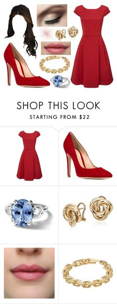 """""""Anastasia's outfit for the engagement announcement"""" by anastasiaofwales ❤ liked on Polyvore featuring Phase Eight, Gianvito Rossi, Blue Nile and Calvin Klein"""