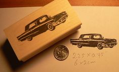 P28 Classic car Thunderbird rubber stamp by dragonflybuzz on Etsy