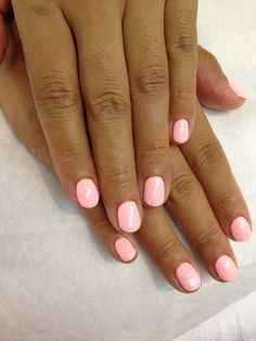 pastel neon pink nails