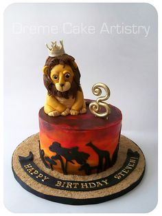 Home - Dreme Cake Artistry - Custom cakes, cupcakes, cookies and more! Lion King Theme, Lion King Party, Lion King Birthday, Jungle Theme Birthday, 1st Birthday Parties, Boy Birthday, Birthday Cakes, Birthday Ideas, Jungle Party Decorations