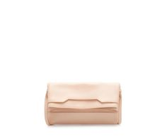 ZARA - WOMAN - LEATHER CLUTCH WITH FOLDOVER FLAP