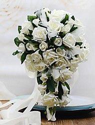Fleurs de mariage Forme libre / Cascade Roses Bouquets Mariage / Le Party / soirée Mousse