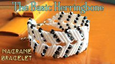 Macrame bracelet tutorial: The basic herringbone pattern - step by step macrame idea craft guide - YouTube