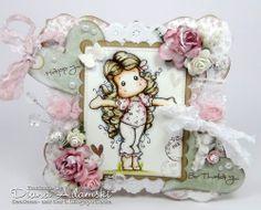 DeeDee´s Card Art: ♥ Tiptoe Tilda - first time with Distress Reinker ♥