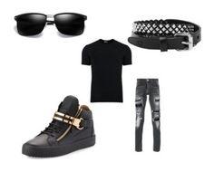 """Men's Outfits"" by lexidonovan on Polyvore featuring Dolce&Gabbana, Philipp Plein, Giuseppe Zanotti, Rust Mood, men's fashion and menswear"