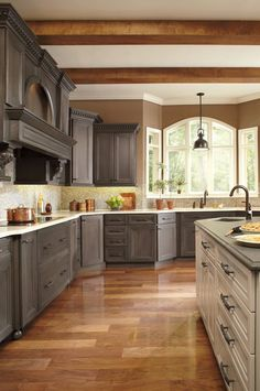 here is my finished kitchen. the cabinets are thomasville studio