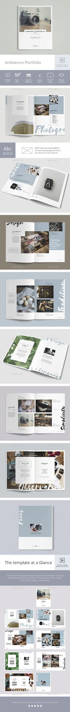 Ambience Portfolio - #Portfolio #Brochures Download here: https://graphicriver.net/item/ambience-portfolio/20099482?ref=alena994