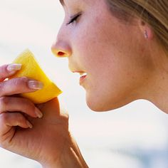 Take a whiff of citrus! Researchers studying depression have found that certain citrus fragrances boost feelings of well-being and alleviate stress by upping levels of norepinephrine, a hormone that affects mood. (I KNEW it!)