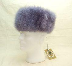 "96.70$  Buy now - http://vihtc.justgood.pw/vig/item.php?t=7b2ezea19719 - Vintage Genuine Russian Womens Mink Fur Hat Purple Soviet Era 27"" ""Melita"" w Tag"