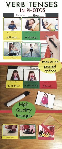 Verb Tenses in Photos (past, present, future) or Sequencing