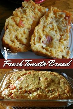 Could You Eat Pizza With Sort Two Diabetic Issues? Delicious And Easy Bread Recipe Using Fresh Tomatoes. Incredible Way To Use Up Garden Tomatoes. Easy Bread Recipes, Cooking Recipes, Muffin Recipes, Fresh Tomato Recipes, Fresh Tomato Bread Recipe, Breaded Tomatoes Recipe, Garden Tomato Recipes, Yellow Squash Recipes, Tomato Pie