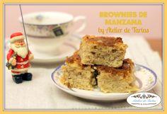 Brownies de manzana con almendra molida