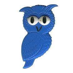 Freak Scene® Eulen & Vögel Anstecker ° DDR Anstecknadel ° Pins ° Brosche ° Motiv: Eule - blau - http://schmuckhaus.online/freak-scene/eule-blau-freak-scene-eulen-voegel-anstecker-ddr