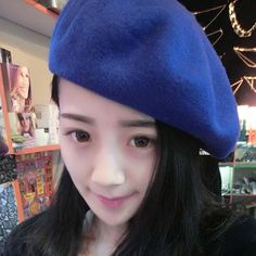 2016 New  Hats Women  Fashion Popular Wool Sweet Made Of Natural Fur Berets Superstar Warm Flat Caps Spring And Autumn Warm