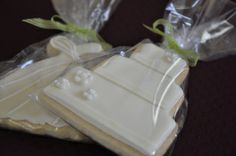Ultimate wedding favours.  Wedding cake shaped shortbread.  £1.50 each