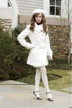 Massie Block from The Clique Adrette Outfits, Cute Girl Outfits, Preppy Outfits, Fashion Tights, Cozy Fashion, The Clique Movie, White Tights, Coloured Tights, Opaque Tights