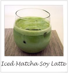 How to make an iced-matcha soy latte, a delicious summer treat! #tea #summer