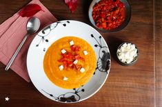 soupe courge poivrons automne Le Curry, Pancakes, Breakfast, Food, In Season Produce, Meal, Autumn, Recipes, Pancake