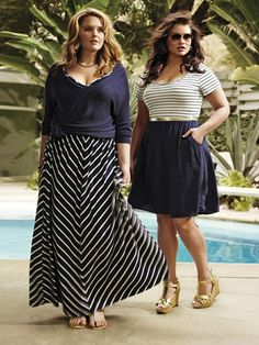 Last updated on July 2016 at pmA plus size maxi skirt is a very comfortable key item that you can wear all day long and be super stylish. Both for straight and plus size women, the most important thing is… Continue Reading → Plus Size Long Skirts, Plus Size Maxi, Moda Plus Size, Plus Size Dresses, Plus Size Outfits, Chubby Fashion, Curvy Girl Fashion, Plus Size Fashion, Looks Plus Size