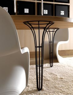 Round wooden table ARTÙ | Round table by Esedra