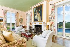 Edith Wharton's Newport Home is for Sale! - The Glam Pad Sofa Inspiration, Interior Decorating, Interior Design, Historic Homes, Decoration, Newport, Home Values, Beautiful Homes, Home And Family