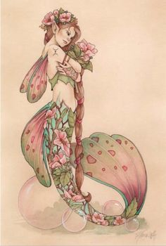 ♒ Mermaids Among Us ♒ art photography  paintings of sea sirens  water maidens - mermaid in pink